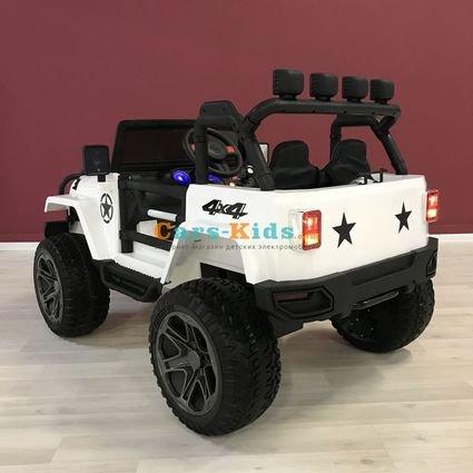 Электромобиль Jeep Wrangler 2WD WXE1688 (колеса резина, сиденье кожа, пульт, музыка)