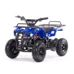 Детский квадроцикл на аккумуляторе MOTAX Mini Grizlik Х-16 мощностью 1000W синий (пульт контроля, до 30 км/ч)