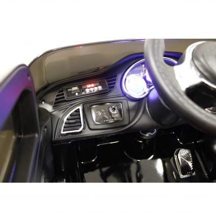 Электромобиль Toyota LC 200 B111BB черный (колеса резина, кресло кожа, пульт, музыка)