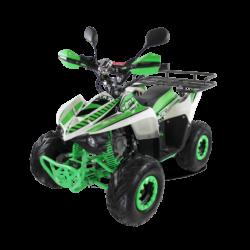 Детский квадроцикл бензиновый MOTAX ATV MIKRO 110 cc бело- зеленый  (пульт контроля, до 50 км/ч)