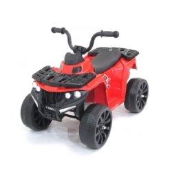 Детский квадроцикл R1 на резиновых колесах 6V - 3201 красный (кресло кожа, колеса резина, музыка, свет)