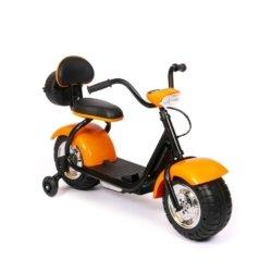 Детский электромотоцикл CityCoco - QK-306 оранжевый (свет фар, музыка)