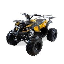 Подростковый квадроцикл бензиновый MOTAX ATV Grizlik Super LUX 125 cc желтый (электростартер, длинноходная подвеска, до 65 км/ч)